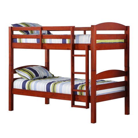Twin Solid Wood Bunk Bed - Cherry