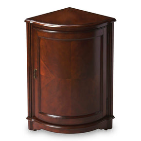 Durham Traditional Quarter Round Corner Cabinet Dark Brown
