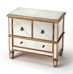 Celeste Traditional Rectangular Console Cabinet Gold