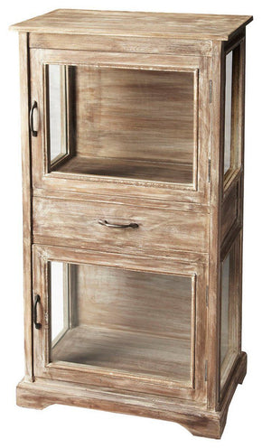 Hardin Transitional Display Cabinet Gray
