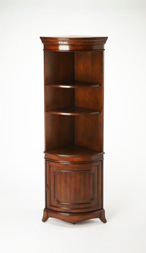 Dowling Traditional Quarter Round Corner Cabinet Dark Brown