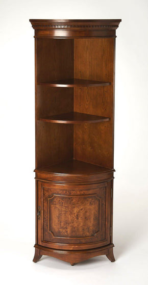 Dowling Traditional Quarter Round Corner Cabinet Medium Brown