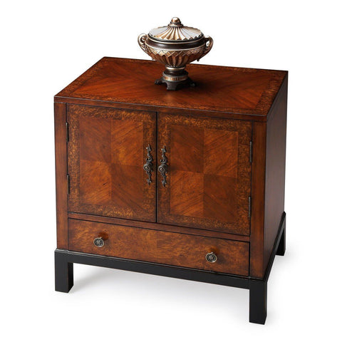 Courtland Traditional Rectangular Accent Cabinet Medium Brown