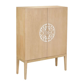Cabinet 2 Doors With Resin Accent Savannah Natural,inlay