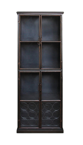 Lazarus Industrial-Style Display Cabinet
