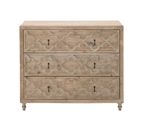 Clover Entry Cabinet Smoke Gray Recycled Wood