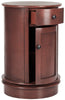 Tabitha Swivel Accent Table Red Cabinet