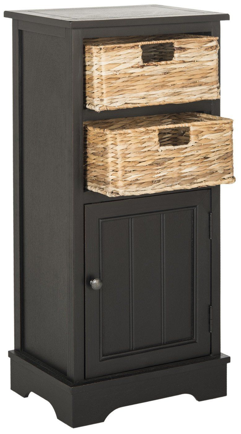 Buy Safavieh AMH5742A Connery Cabinet Distressed Black at ...