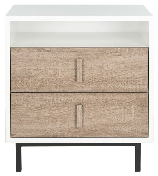Kefton Lacquer Cabinet White Oak Black
