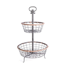 Tangled Tiered Baskets (Set Of 2) Cake Stand