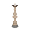 Lake Side Candle Stand Natural,gray Holder