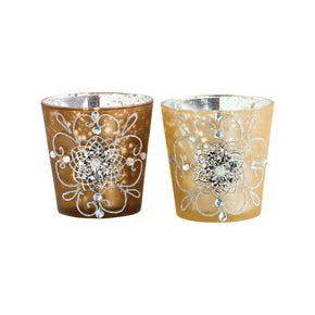 Gilded Lights Votives Chocolate,gold Candle Holder