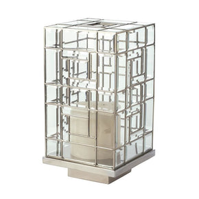 Glass Hurricane - Large Clear Candle Holder