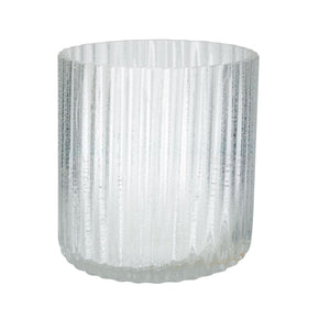 Ice Fizz Fluted Votive - Sm Candle Holder