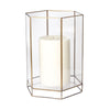 Glass Oriel Hurricane - Large Clear Candle Holder