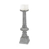 Floor Standing Grey Washed Candle Holder - Large White Wash