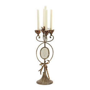 Antiqued Candelabra Candle Holder