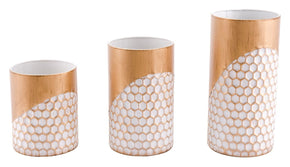 Honeycomb Set Of 3 Candle Holders Gold Holder