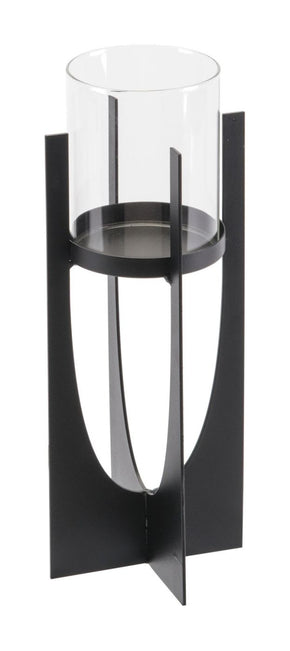 Equis Black Candle Holder Small