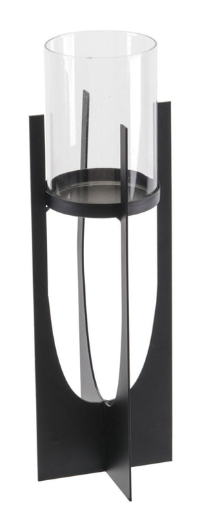 Equis Black Candle Holder Md