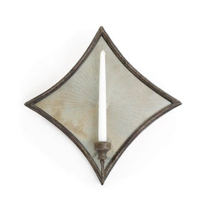 Diamond Mirrored Sconce Candle Wall