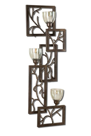 Iron Branches Wall Sconce Candle