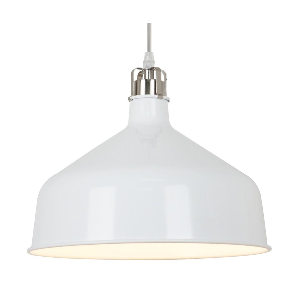 Ceiling Lamps - EdgeMod LS-C167-WHI Banbury Pendant Lamp in Matte White | 641061723844 | Only $50.80. Buy today at http://www.contemporaryfurniturewarehouse.com
