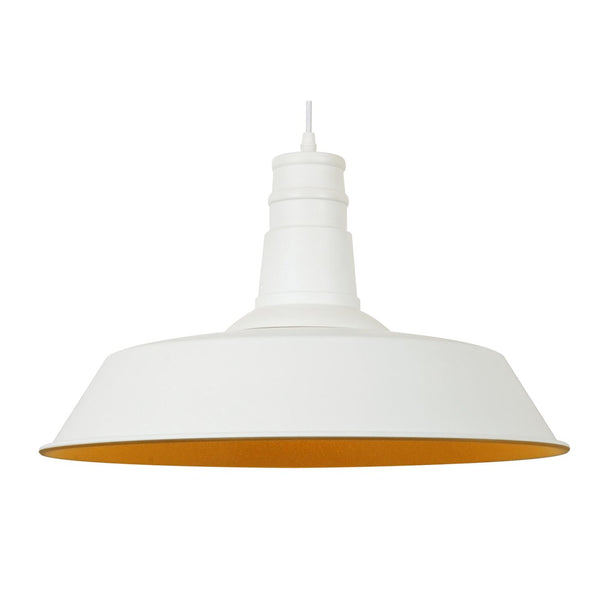 Stafford Pendant Lamp In Matte White Ceiling