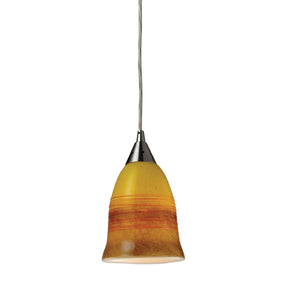 Ceiling Lamps - Elk Group ELK-10218/1ERH Horizon 1-Light Earth Pendant In Satin Nickel | 748119023175 | Only $94.90. Buy today at http://www.contemporaryfurniturewarehouse.com