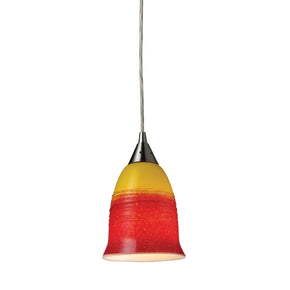 Horizon 1-Light Fire Pendant In Satin Nickel Ceiling Lamp