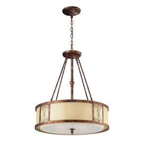 Frederick 4-Light Chandelier In Spanish Bronze Ceiling Lamp