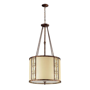 Frederick 8-Light Chandelier In Spanish Bronze Ceiling Lamp