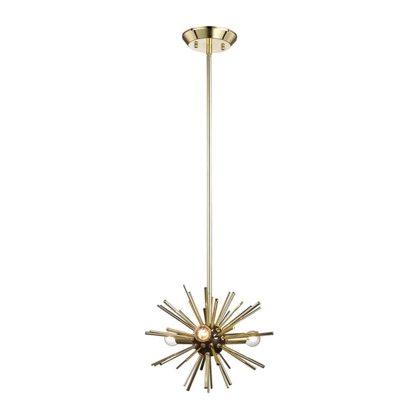 Ceiling Lamps - Elk Group ELK-1140-027 Starburst 3 Light Pendant In Gold Polished Gold,Oil Rubbed Bronze | 818008030079 | Only $374.00. Buy today at http://www.contemporaryfurniturewarehouse.com