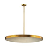 Laigne 4 Light Disc Pendant In Gold Leaf Gold Leaf