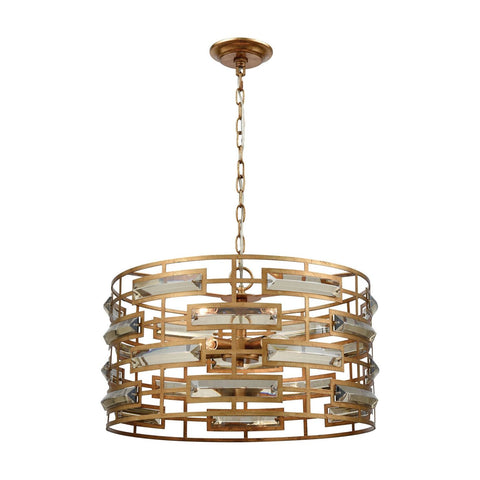Gold Metro Crystal Pendant Leaf,clear Ceiling Lamp