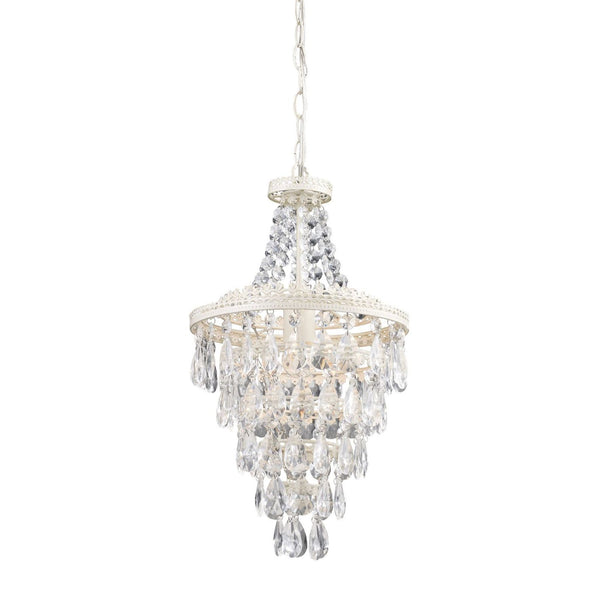 Clear Crystal Pendant Lamp Antique White,clear Ceiling