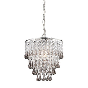 Teak And Clear Crystal Pendant Lamp Teak,clear Finish Ceiling