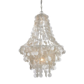 Mother Of Pearl Mini Pendant Shell With White Ceiling Lamp