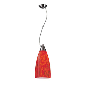 Pendaglio Collection Fire Red Glass Ceiling Lamp