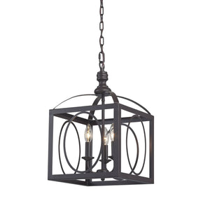 Ailsa-Ringed 3 Light Cluster Lantern Aged Bronze Ceiling Lamp