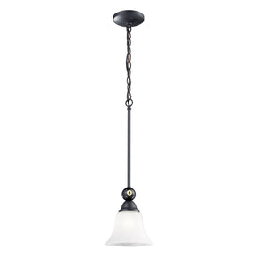 Designer Classics 1-Light Billiard Pendant In Matte Black Ceiling Lamp