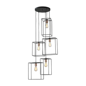 Box Pendant Cluster Oil Rubbed Black Ceiling Lamp