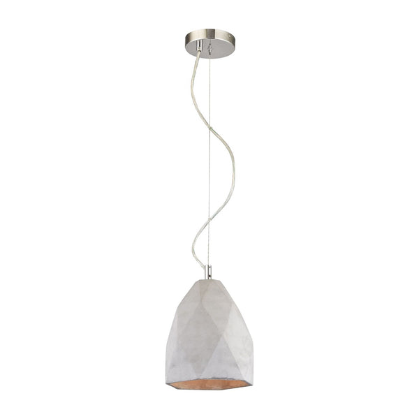 Tsar 1 Light Pendant In Polished Concrete Ceiling Lamp