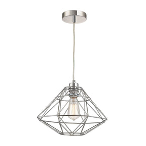 Paradigm 1 Light Pendant In Chrome Ceiling Lamp