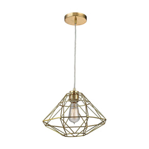 Paradigm 1 Light Pendant In Gold Ceiling Lamp