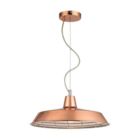 Ajax 1 Light Pendant In Copper Ceiling Lamp