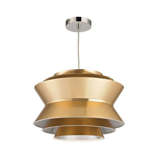 Godnik 1 Light Pendant In Gold Ceiling Lamp