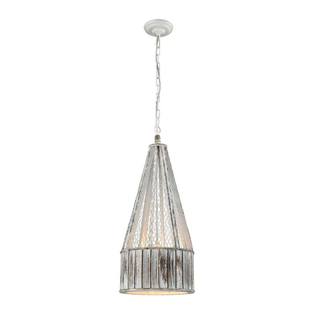 Pennant Point Pendant Washed Wood Ceiling Lamp