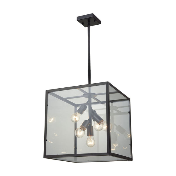 Cluster Box Pendant Oil Rubbed Bronze Ceiling Lamp