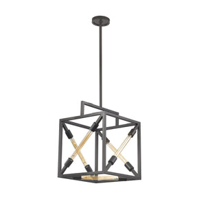 Box Tube Pendant Oil Rubbed Bronze Ceiling Lamp